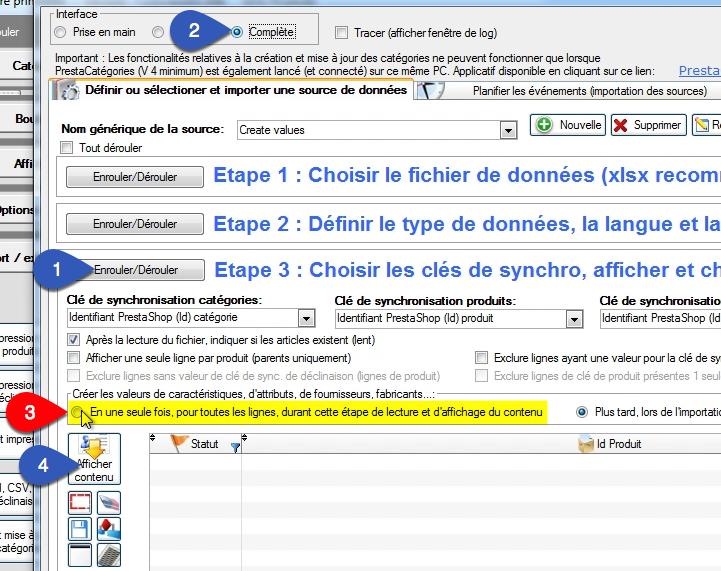 Fenêtre d'importation d'un fichier Excel dans PrestaPricing