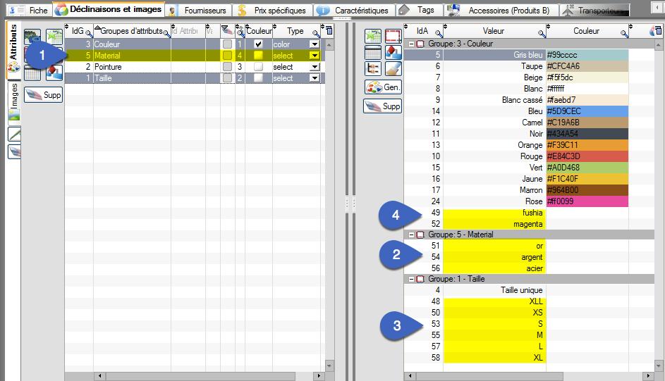 Comment créer de nouveaux attribut dans PrestaPricing lors de l'importation de fichier excel