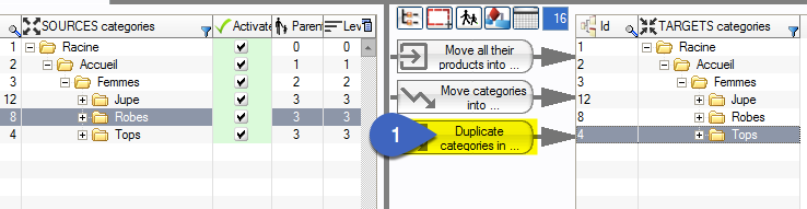 How to duplicate a category with all its products in PrestaCategories