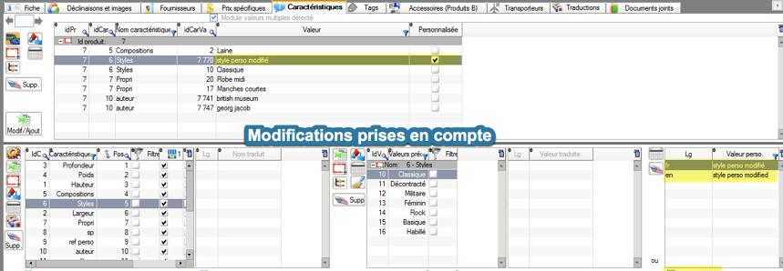 Comment modifier la valeur d'une caractéristique d'un produit dans PrestaPricing?