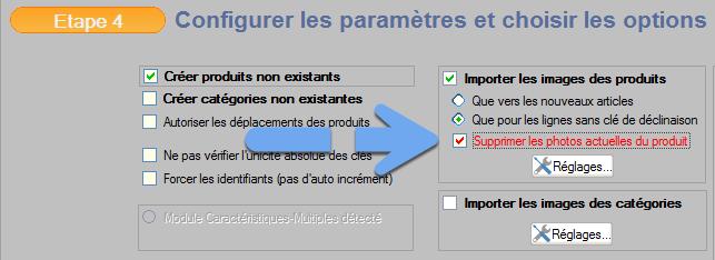 Suppression des images automatique avant nouvelle importation