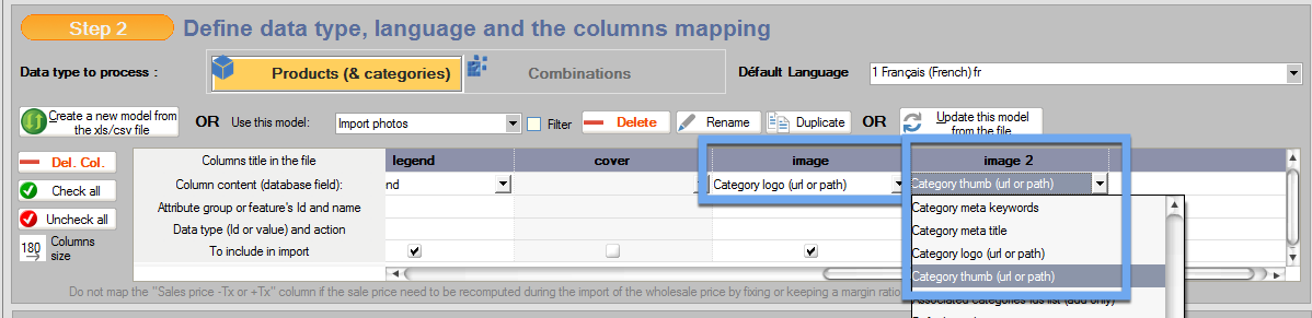You can upload images of categories with the import tool