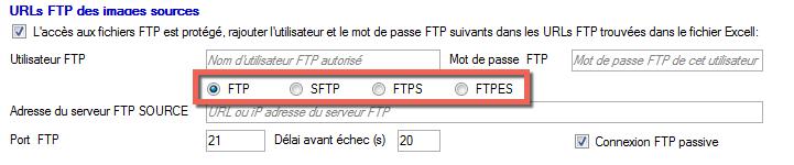 Ajout SFTP FTPS ou FTPES des images
