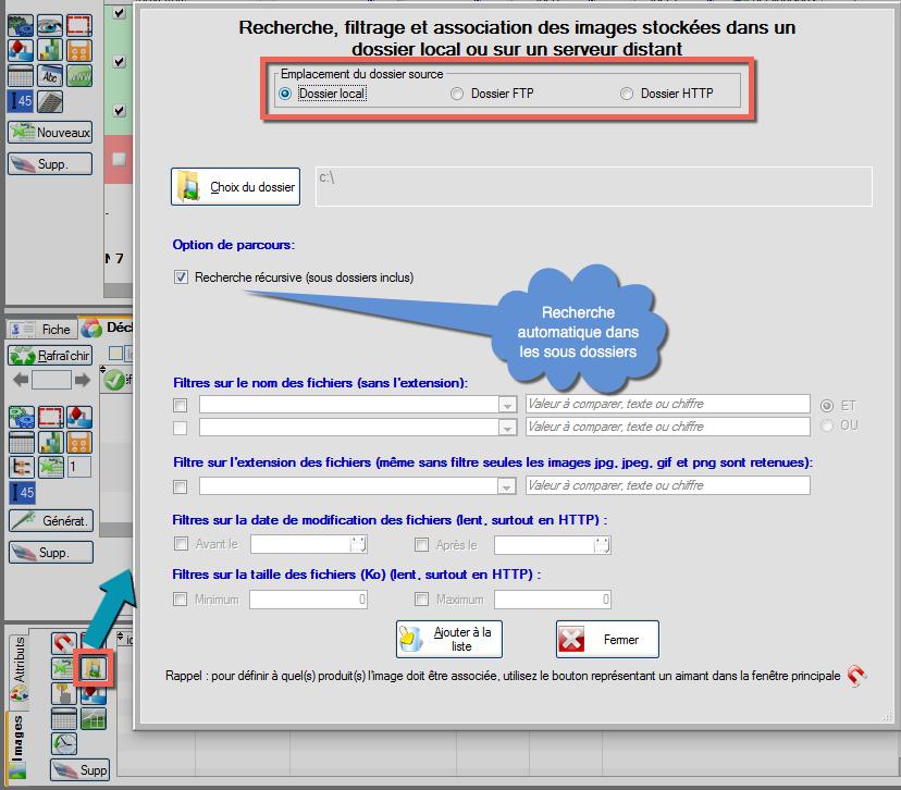 REcherche de photos dans dossiers distants FTP et HTTP
