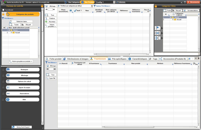 fast back office module for PrestaShop